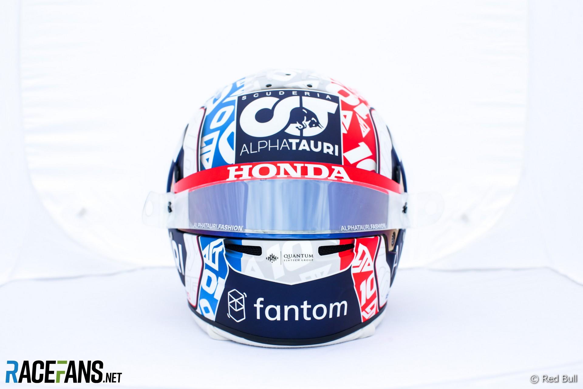 Pierre Gasly's 2021 French Grand Prix helmet