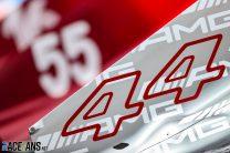 Lewis Hamilton's racing number, Paul Ricard, 2021