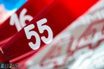 Carlos Sainz Jnr's racing number, Paul Ricard, 2021