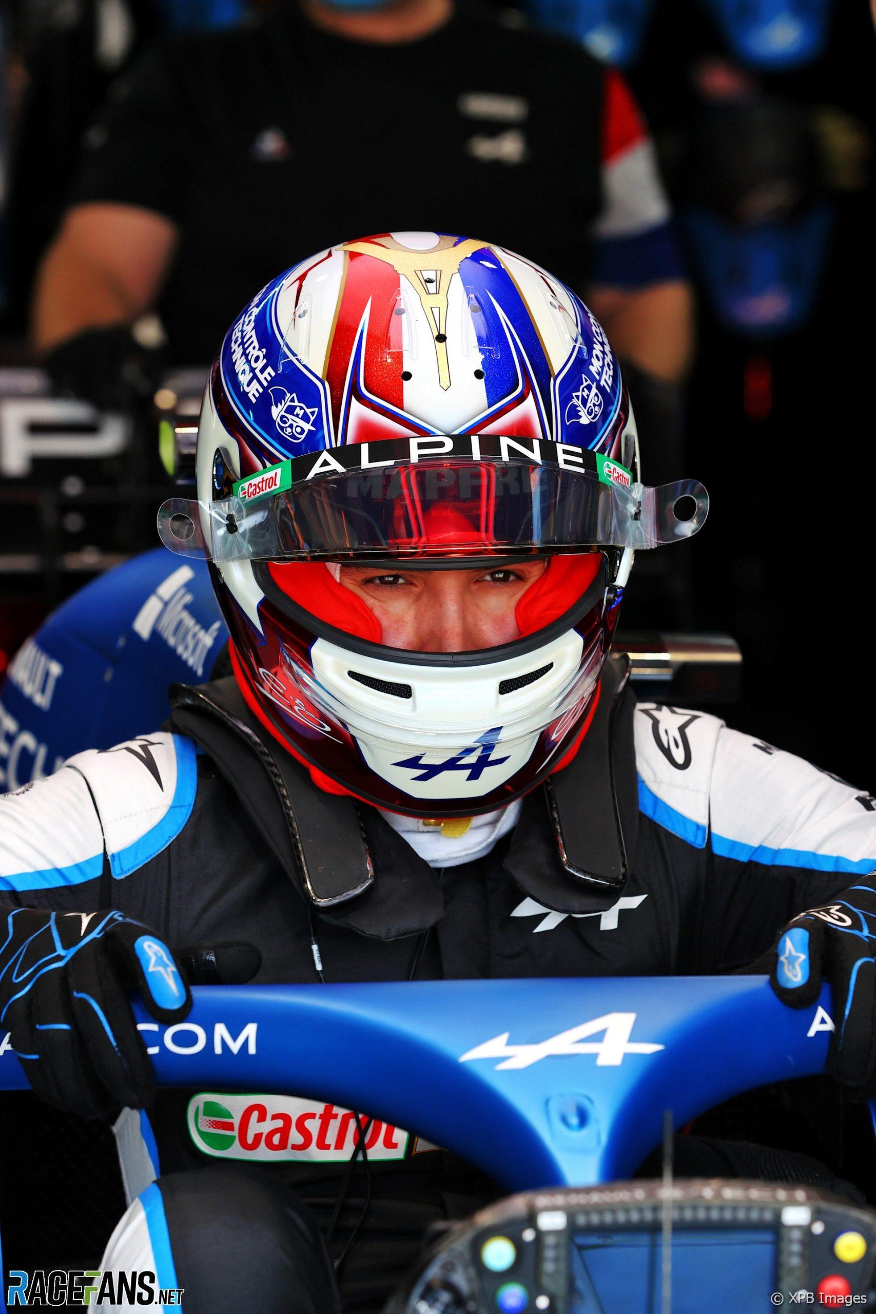 Esteban Ocon's 2021 French Grand Prix helmet