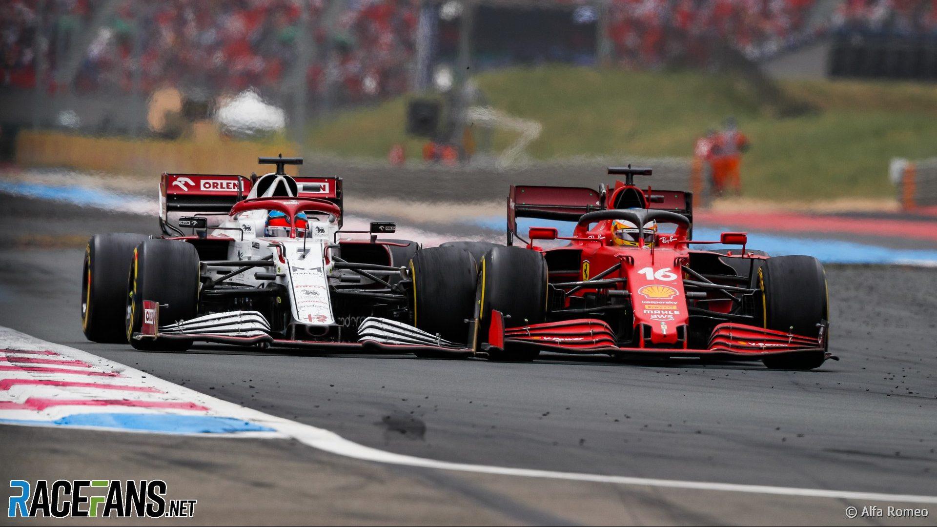Kimi Raikkonen, Charles Leclerc, Paul Ricard, 2021