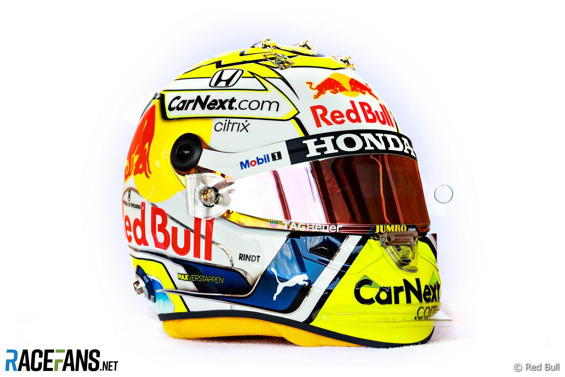 Max Verstappen's Styrian Grand Prix helmet