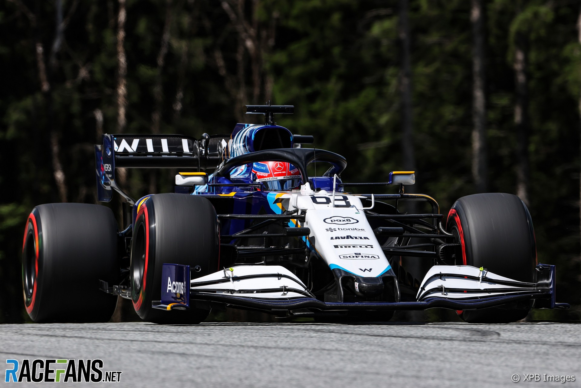 George Russell, Williams, Red Bull Ring, 2021