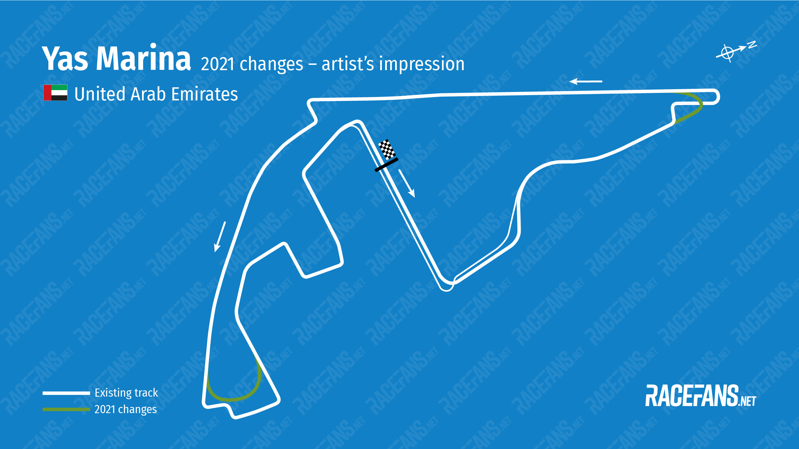 Artist's impression: Changes to Yas Marina circuit for 2021