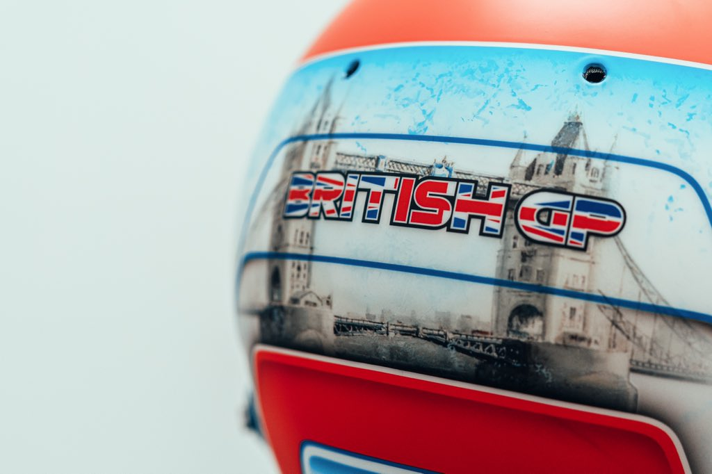 George Russell's 2021 British Grand Prix helmet