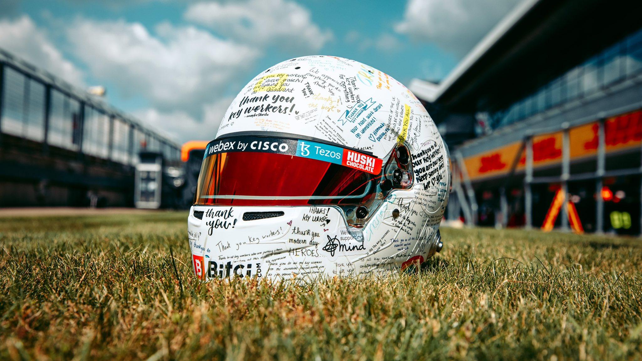 Lando Norris' 2021 British Grand Prix helmet