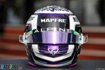 Guanyu Zhou's helmet, Alpine, Red Bull Ring, 2021