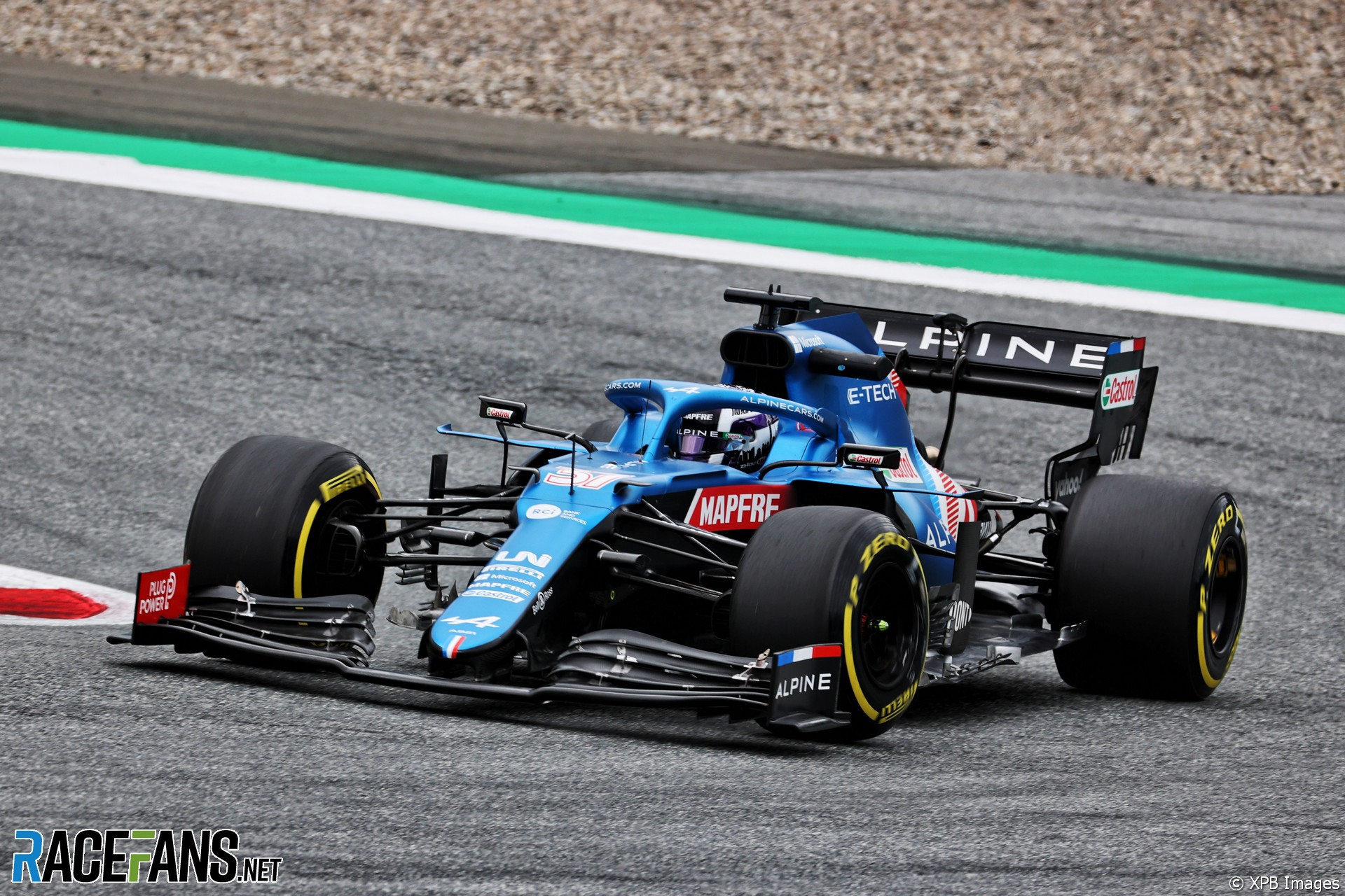 Guanyu Zhou, Alpine, Red Bull Ring, 2021 · RaceFans