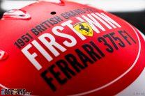 Charles Leclerc's 2021 British Grand Prix helmet