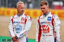 Nikita Mazepin, Mick Schumacher, Haas, Silverstone, 2021