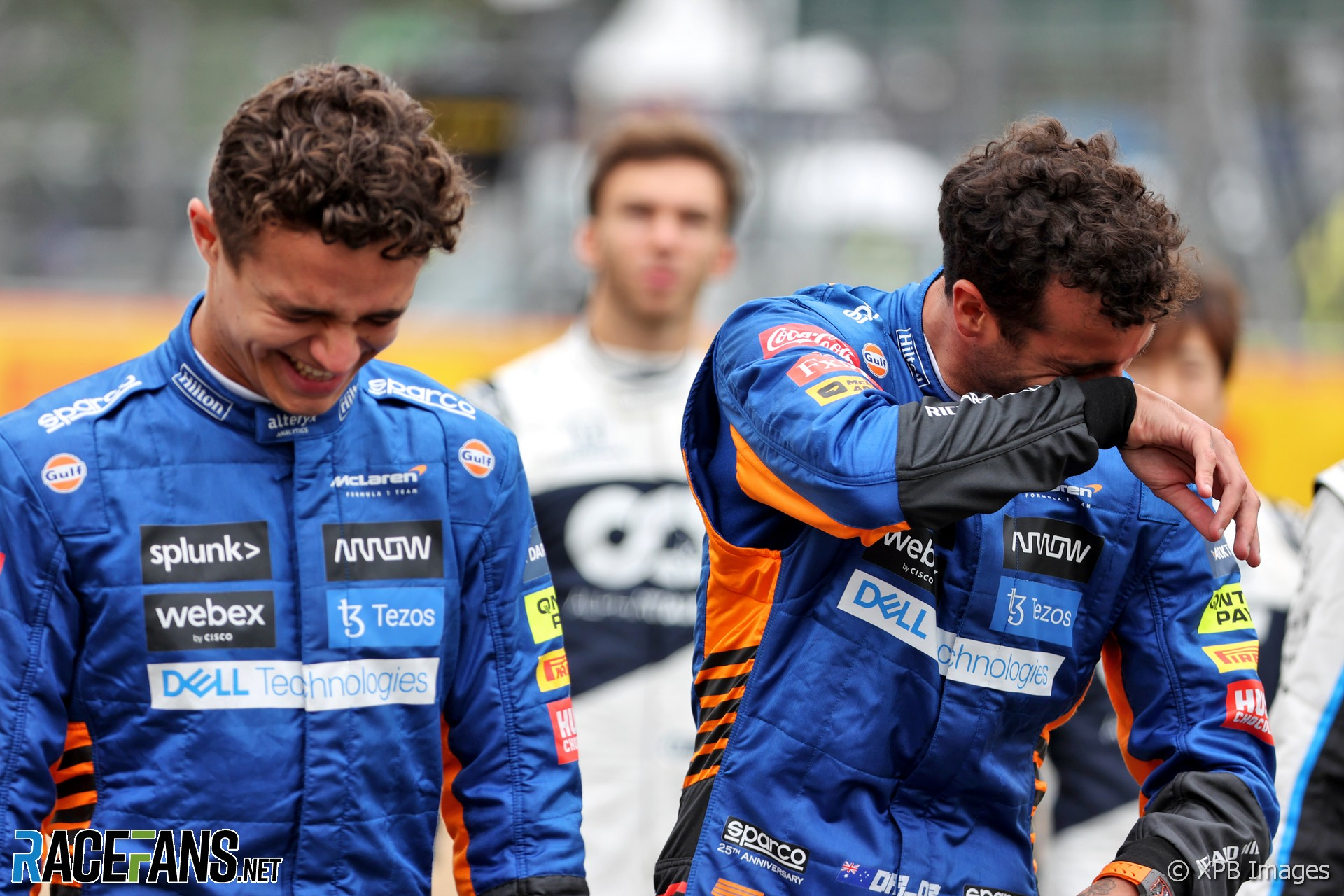 Lando Norris, Daniel Ricciardo, McLaren, Silverstone, 2021