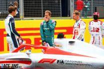 George Russell, Sebastian Vettel, Mick Schumacher, Kimi Raikkonen, Silverstone, 2021