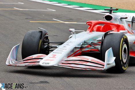 Modèle de voiture F1 2022, Silverstone, 2021