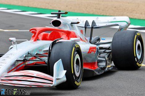 Modelo de coche 2022 F1, Silverstone, 2021