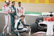 Antonio GIovinazzi, Sebastian Vettel, Mick Schumacher, George Russell, Silverstone, 2021