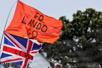 Lando Norris flag, Silverstone, 2021