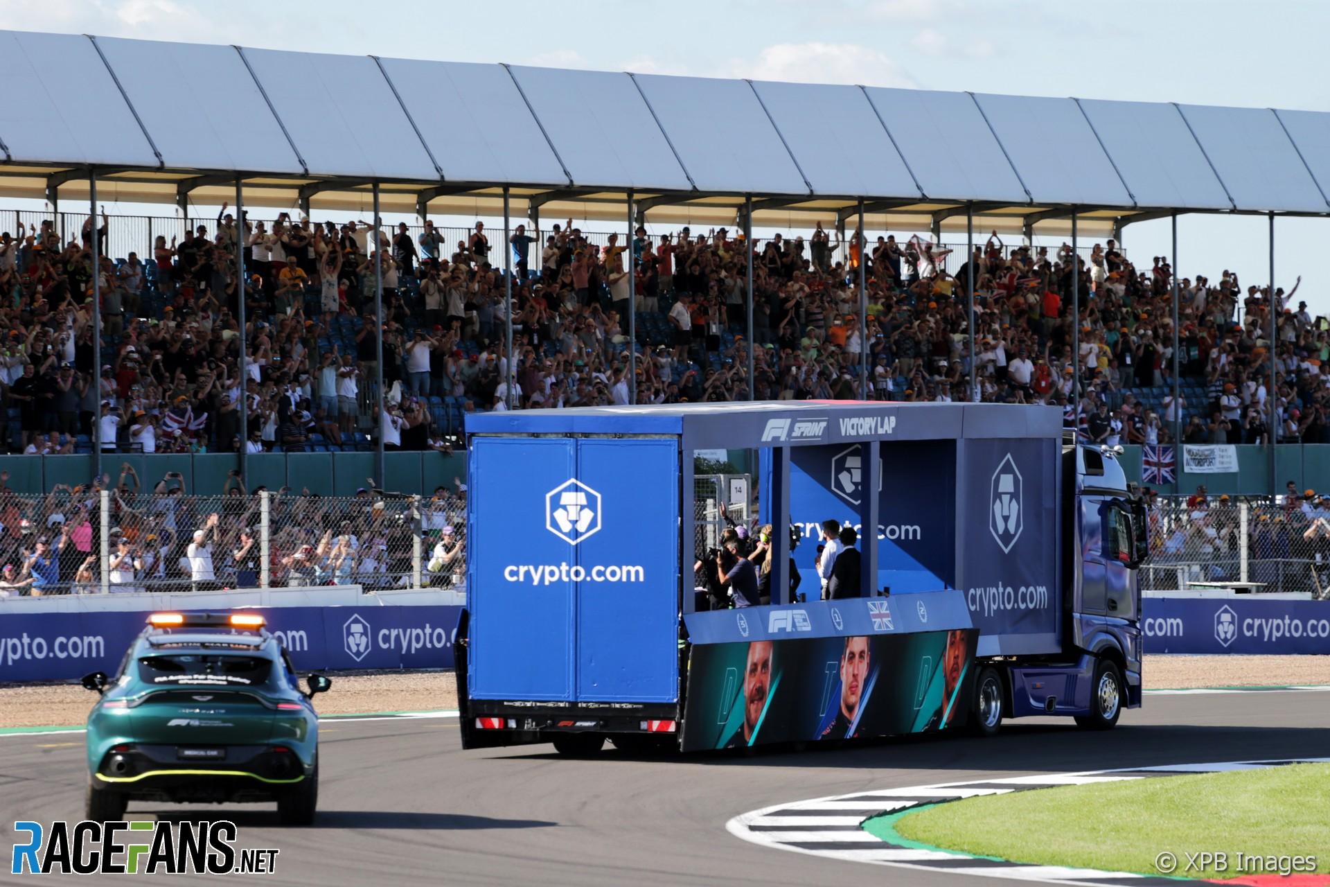 Victory lap, Silverstone, 2021