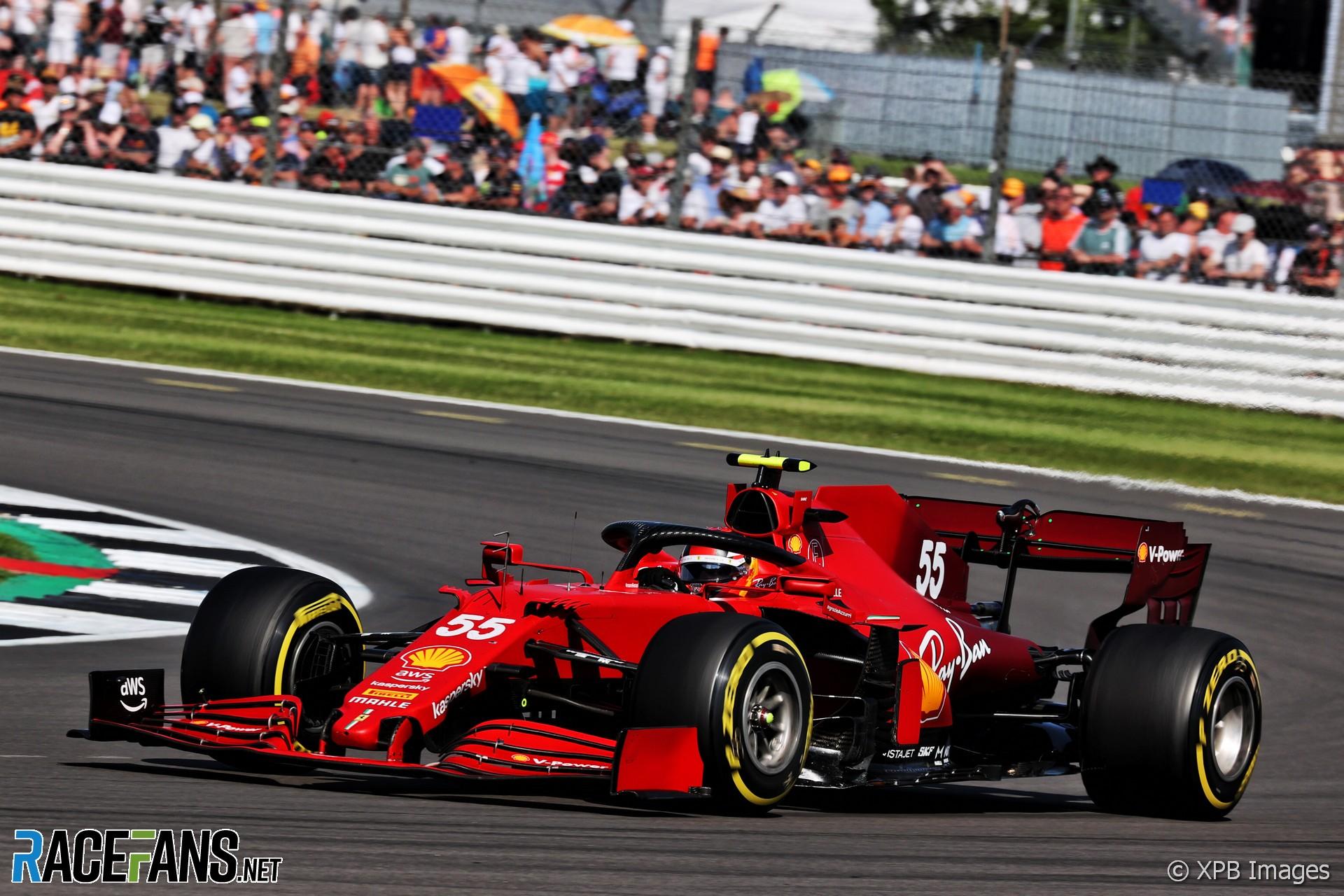 Carlos Sainz Jnr, Ferrari, Silverstone, 2021