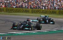Hamilton wins British Grand Prix despite penalty for colliding with Verstappen