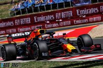 Verstappen leads Mercedes pair in first practice, Tsunoda crashes