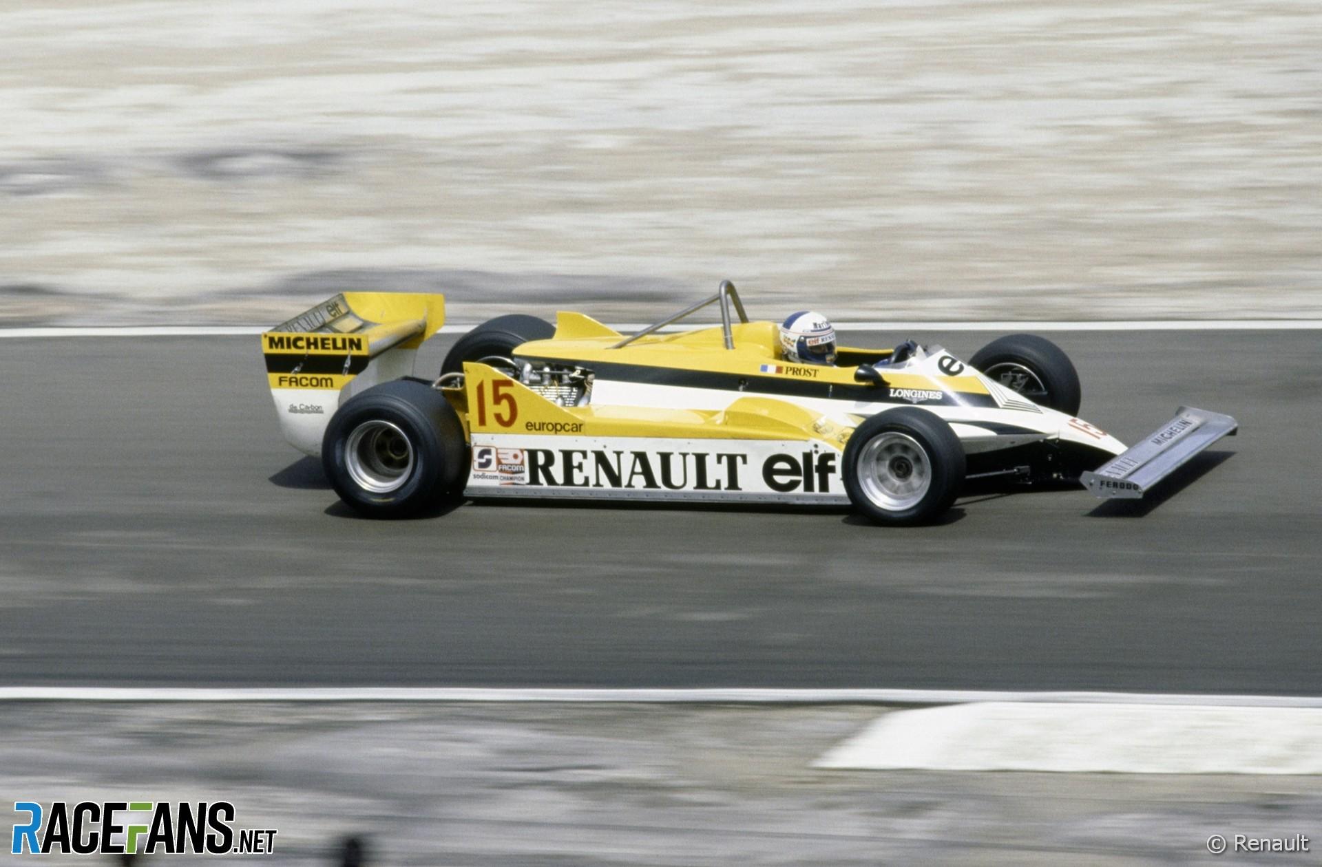 Alain Prost, Renault, Dijon, 1981