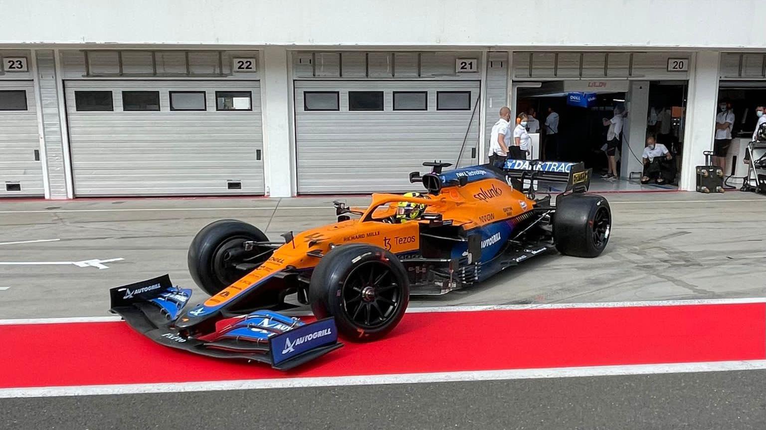 Lando Norris, McLaren, 2022 F1 tyre test