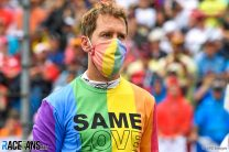 What was the FIA's problem with Vettel's pride T-shirt, and could it lead to a penalty?