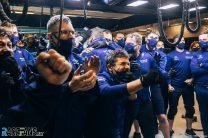 Williams celebrations, Spa-Francorchamps, 2021