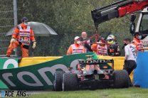 Perez crashes out of Belgian Grand Prix before race begins