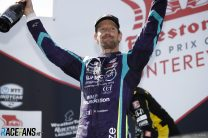 Grosjean feels better off in IndyCar after crowd-pleasing charge to Laguna Seca podium