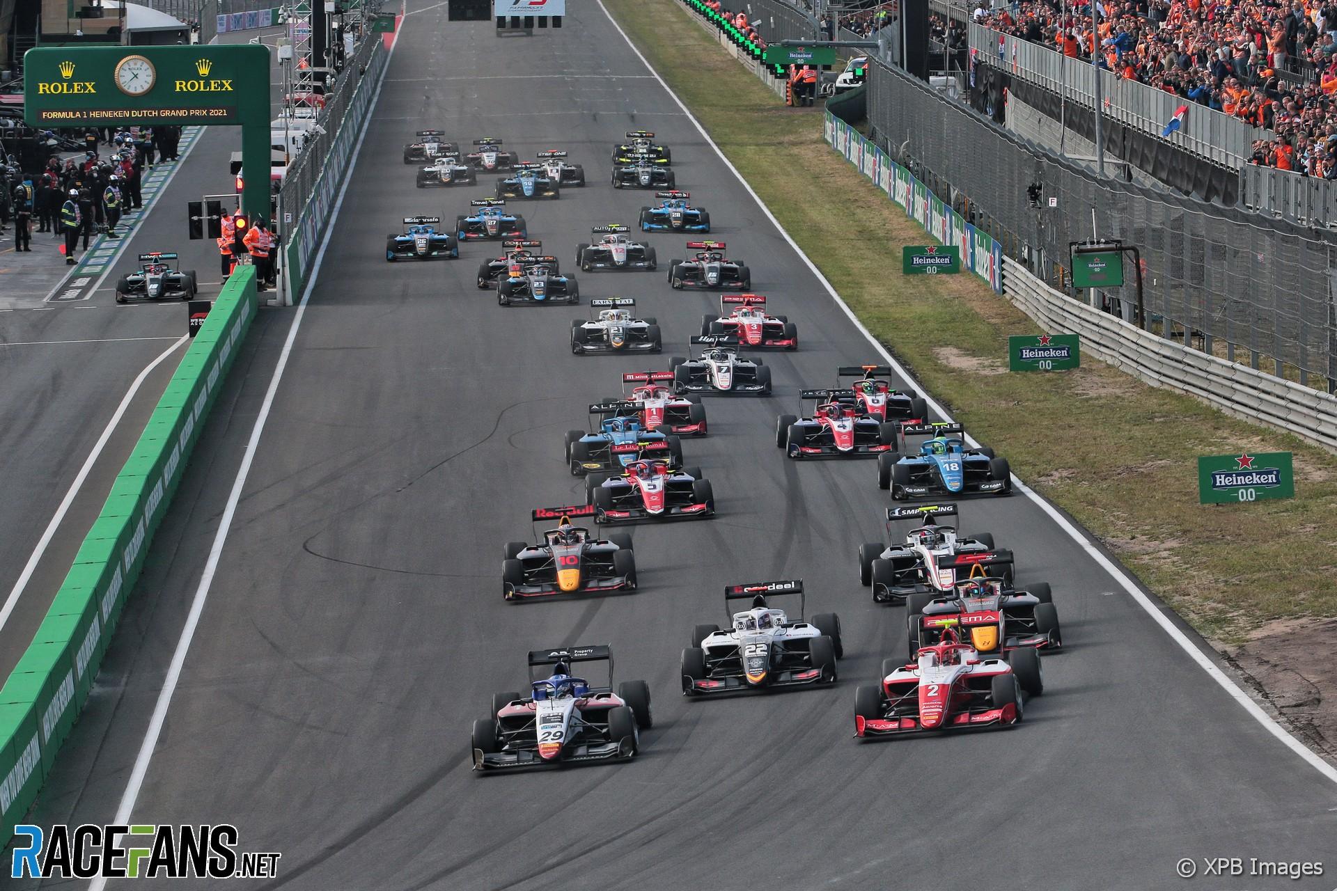 Start, race one, Formula 3, Zandvoort, 2021