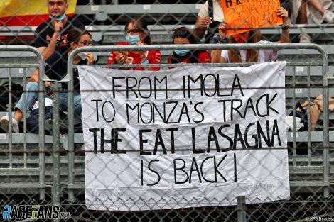 Fans banner, Monza, 2021
