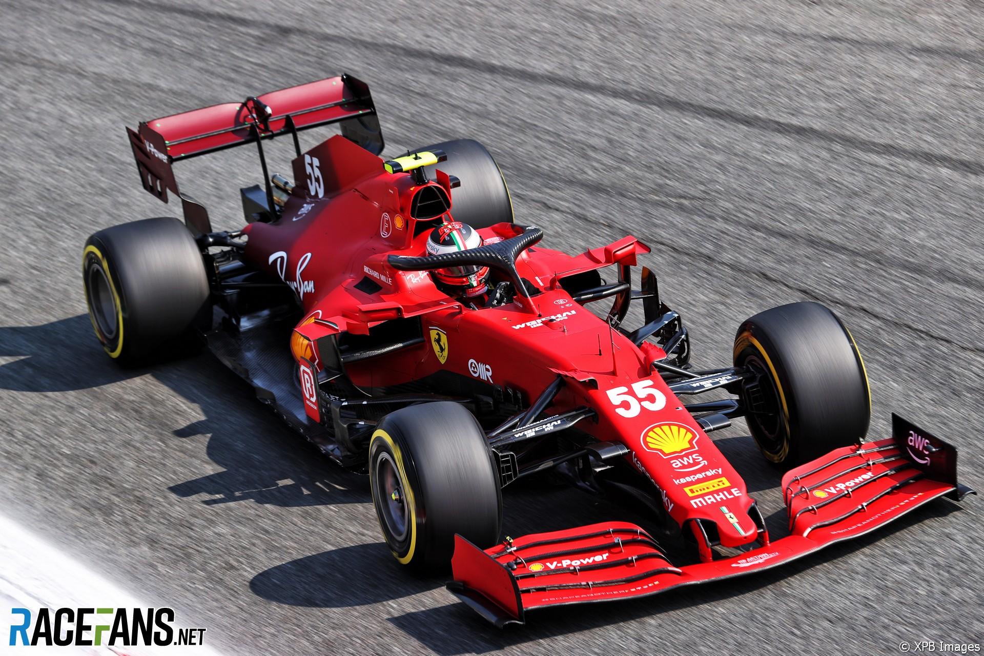 Carlos Sainz Jnr, Ferrari, Monza, 2021