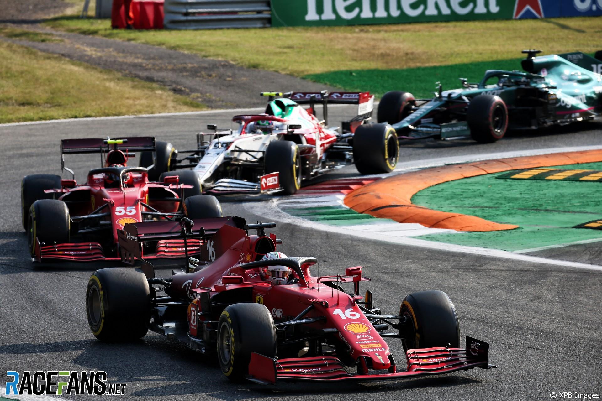 Charles Leclerc, Ferrari, Monza, 2021