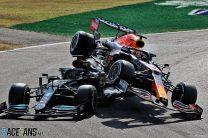 Max Verstappen and Lewis Hamilton crash, Monza, 2021
