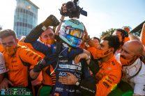 "Elated Ricciardo says he ""never lost faith"" before breakthrough McLaren win"