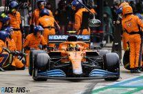 Norris keeps seventh after reprimand for pit entry error