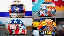 10 drivers reveal special helmets for United States Grand Prix